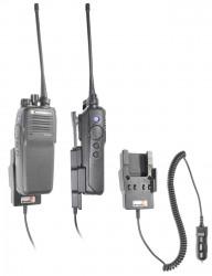 Support voiture  Brodit Motorola DP2000 Series  avec chargeur allume cigare - Conception mince avec chargeur intégré dans le support. Pour une utilisation avec des batteries Li-ion ou Li-Poly. Réf 530493