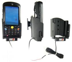 Support voiture  Brodit Motorola MC55  installation fixe - Avec rotule. Conception mince avec chargeur intégré dans le support. Réf 532013