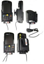 Support voiture  Brodit Motorola MC55  installation fixe - Avec rotule. Conception mince avec chargeur intégré dans le support et avec USB On-The-Go connectivité. Réf 532180
