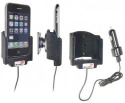 Support voiture  Brodit Apple iPhone 3G  avec chargeur allume cigare - Avec rotule. Avec câble USB. Chargeur approuvé par Apple. Surface &quot