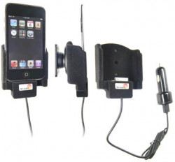 Support voiture  Brodit Apple iPod Touch 2nd Generation  avec chargeur allume cigare - Avec rotule. Avec câble USB. Surface &quot
