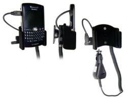 Support voiture  Brodit BlackBerry 8800  avec chargeur allume cigare - Avec rotule. Surface &quot