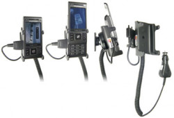 Support voiture  Brodit Sony Ericsson C905i  avec chargeur allume cigare - Avec rotule orientable. Réf 965270