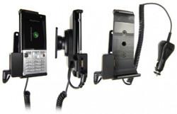 Support voiture  Brodit Sony Ericsson T700  avec chargeur allume cigare - Avec rotule. Avec connecteur pass-through pour la connectivité casque. Réf 965279