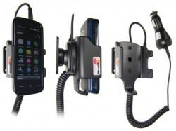 Support voiture  Brodit Nokia 5800 XpressMusic  avec chargeur allume cigare - Avec rotule orientable. Réf 965288