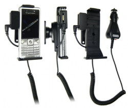 Support voiture  Brodit Sony Ericsson C510  avec chargeur allume cigare - Avec rotule. Avec connecteur pass-through pour la connectivité casque. Réf 965299