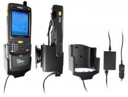 Support voiture  Brodit Motorola MC70  avec chargeur allume cigare - Avec rotule. Pour le module de TSL. Pour appareil avec batterie standard et étendu. Réf 968809