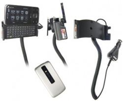 Support voiture  Brodit HTC Touch Pro  avec chargeur allume cigare - Avec rotule. Pour une position ouverte horizontale. Réf 968882