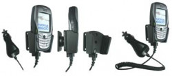 Support voiture  Brodit Nokia 6600  avec chargeur allume cigare - Avec rotule orientable. Réf 968894