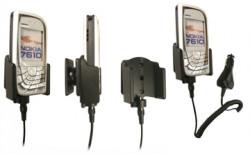 Support voiture  Brodit Nokia 7610  avec chargeur allume cigare - Avec rotule orientable. Réf 968930