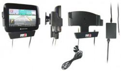 Support voiture  Brodit Navigon 7100  installation fixe - Avec rotule. 12/24 Volt, 2 Un chargeur. Grâce à la connectivité TMC. Réf 215291