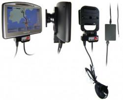 Support voiture  Brodit TomTom GO 520 T  installation fixe - Avec rotule. 12/24 Volt, 2 Un chargeur. Grâce à la connectivité TMC (prise ronde). Réf 274006