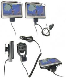 Support voiture  Brodit TomTom GO 520  avec réplicateur de port - Support actif avec chargeur voiture, avec rotule. 12/24 Volt. Grâce à la connectivité TMC (prise MiniUSB). Réf 278024