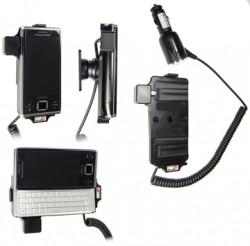Support voiture  Brodit Sony Ericsson Xperia X2  avec chargeur allume cigare - Avec rotule orientable. Réf 512111