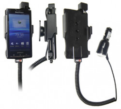 Support voiture  Brodit Sony Ericsson Xperia X10  avec chargeur allume cigare - Avec rotule orientable. Réf 512137