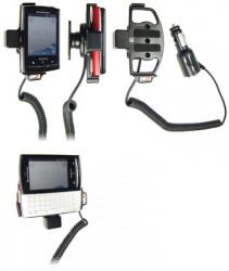 Support voiture  Brodit Sony Ericsson Xperia X10 Mini Pro  avec chargeur allume cigare - Avec rotule orientable. Réf 512171