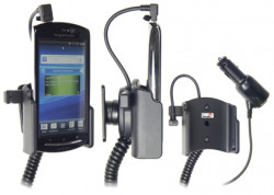 Support voiture  Brodit Sony Ericsson Xperia neo  avec chargeur allume cigare - Avec rotule orientable. Réf 512269