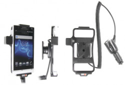 Support voiture  Brodit Sony Xperia S  avec chargeur allume cigare - Avec rotule orientable. Réf 512369