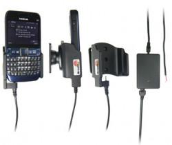 Support voiture  Brodit Nokia E63  installation fixe - Avec rotule, connectique Molex. Chargeur 2A. Réf 513006