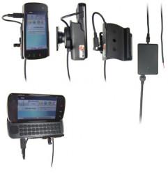 Support voiture  Brodit Nokia N97  installation fixe - Avec rotule, connectique Molex. Chargeur 2A. Réf 513008