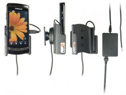 Support voiture  Brodit Samsung i8910 HD  installation fixe - Avec rotule, connectique Molex. Chargeur 2A. Réf 513020