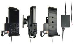 Support voiture  Brodit Sony Ericsson C901  installation fixe - Avec rotule, connectique Molex. Chargeur 2A et Pass-Through Connector pour la connectivité casque. Réf 513025