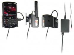 Support voiture  Brodit BlackBerry Tour 9630  installation fixe - Avec rotule, connectique Molex. Chargeur 2A. Réf 513036