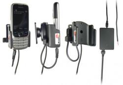 Support voiture  Brodit Nokia 2323 Classic  installation fixe - Avec rotule, connectique Molex. Chargeur 2A. Réf 513040