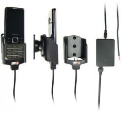 Support voiture  Brodit Nokia 6700 Classic  installation fixe - Avec rotule, connectique Molex. Chargeur 2A. Micro USB. Réf 513054