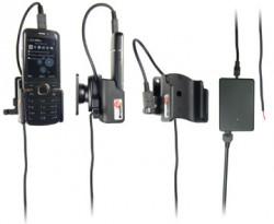 Support voiture  Brodit Nokia 6730 Classic  installation fixe - Avec rotule, connectique Molex. Chargeur 2A. Micro USB. Réf 513056