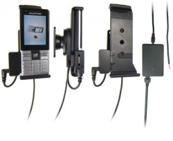 Support voiture  Brodit Sony Ericsson J105i  installation fixe - Avec rotule, connectique Molex. Chargeur 2A et Pass-Through Connector pour la connectivité casque. Réf 513064