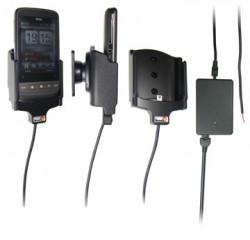 Support voiture  Brodit HTC Touch2  installation fixe - Avec rotule, connectique Molex. Chargeur 2A. Réf 513075