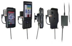 Support voiture  Brodit Sony Ericsson Aino  installation fixe - Avec rotule, connectique Molex. Chargeur 2A et Pass-Through Connector pour la connectivité casque. Réf 513079