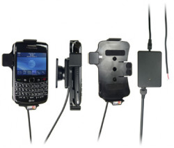Support voiture  Brodit BlackBerry Bold 9700  installation fixe - Avec rotule, connectique Molex. Chargeur 2A. Réf 513095