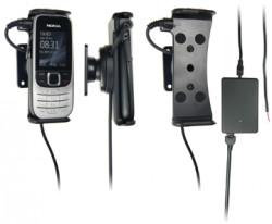 Support voiture  Brodit Nokia 2330 Classic  installation fixe - Avec rotule, connectique Molex. Chargeur 2A. Réf 513096