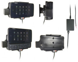 Support voiture  Brodit Nokia N900  installation fixe - Avec rotule, connectique Molex. Chargeur 2A. Réf 513099