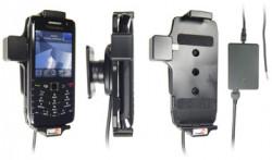 Support voiture  Brodit BlackBerry Pearl 9100  installation fixe - Avec rotule, connectique Molex. Chargeur 2A. Réf 513182