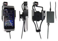 Support voiture  Brodit Nokia E7-00  installation fixe - Avec rotule, connectique Molex. Chargeur 2A. Pour un montant position fermée. Réf 513239