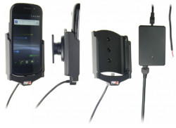 Support voiture  Brodit Samsung Nexus S GT-I9023  installation fixe - Avec rotule, connectique Molex. Chargeur 2A. Réf 513245
