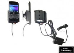 Support voiture  Brodit BlackBerry Bold 9790  installation fixe - Avec rotule, connectique Molex. Chargeur 2A. Réf 513289