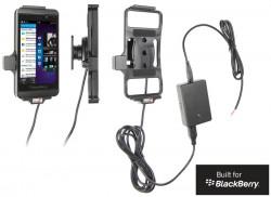 Support voiture  Brodit BlackBerry Z10  installation fixe - Avec rotule, connectique Molex. Chargeur 2A. Réf 513447