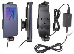 Support voiture Brodit Samsung Galaxy S6/S7 installation fixe - Avec rotule, connectique Molex. Chargeur 2A. Convient appareils avec étui Réf 513724