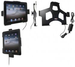 Support voiture  Brodit Apple iPad 1  installation fixe - Avec rotule. Chargeur 2A. Chargeur approuvé par Apple. Réf 527139