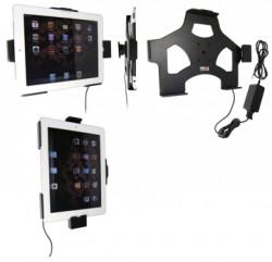 Support voiture  Brodit Apple iPad 2  installation fixe - Avec rotule. Chargeur 2A. Chargeur approuvé par Apple. Réf 527244