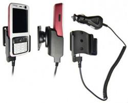 Support voiture  Brodit Nokia N73  avec chargeur allume cigare - Avec rotule orientable. Réf 965120