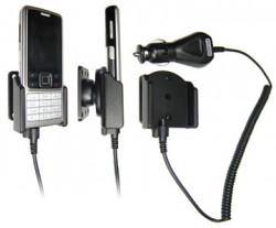Support voiture  Brodit Nokia 6300  avec chargeur allume cigare - Avec rotule orientable. Réf 965131