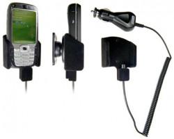 Support voiture  Brodit HTC S710  avec chargeur allume cigare - Avec rotule. Pour un montant position fermée. Surface &quot