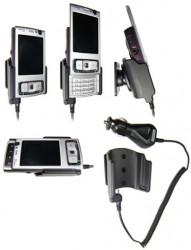 Support voiture  Brodit Nokia N95 4GB  avec chargeur allume cigare - Avec rotule orientable. Réf 965156