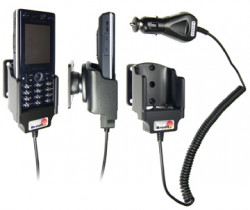 Support voiture  Brodit Sony Ericsson K810i  avec chargeur allume cigare - Avec rotule orientable. Réf 965163