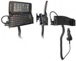 Support voiture  Brodit Nokia E90  avec chargeur allume cigare - Avec rotule. Pour une position ouverte horizontale. Réf 965166